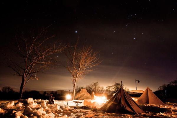 -20度予報の雪中キャンプ_赤平_エルム高原
