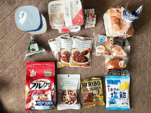 北海道地震_物品確保_食料・電池・おかし