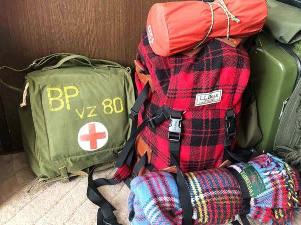 北海道地震_災害時用バッグとプラスαが入ったバックパック