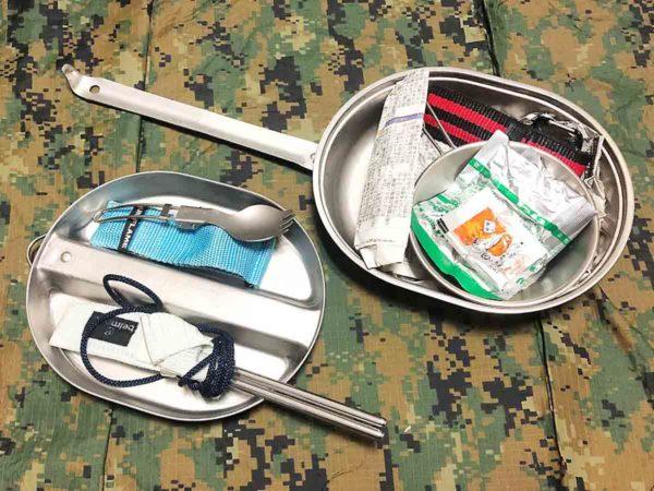 災害時用バッグ_クッカー兼食器_米軍メスキットパン
