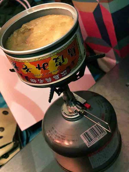 soto_アミカス_弱火で缶詰を温める