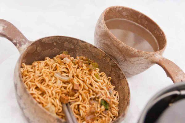 クピルカでやき弁と中華スープ