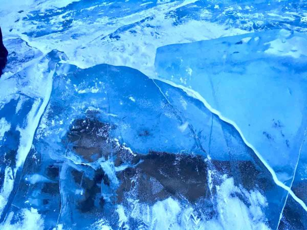 タウシュベツ川橋梁旅_1日目_透明な氷