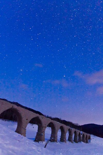 タウシュベツ川橋梁旅_1日目_タウシュベツ川橋梁7_満点の星と2