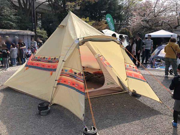 アウトドアデイジャパン東京2019_ロゴス_ナバホEX
