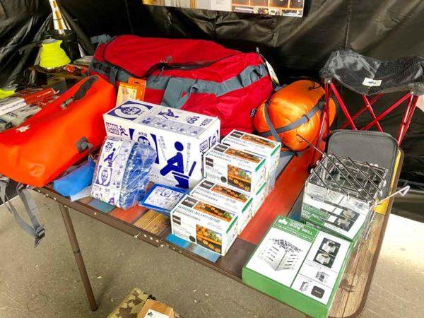 アウトドアデイジャパン札幌2019_ロゴス_災害時の使えるキャンプ道具コーナー