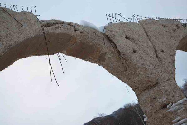 タウシュベツ川橋梁旅_2日目_年々崩落が進む