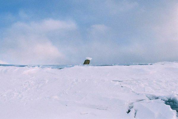 タウシュベツ川橋梁_写真集_2019_冬_ポツンとキノコ氷_こまいてさん撮影